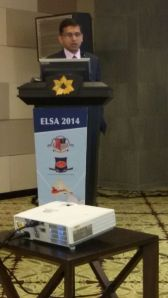 Speaking on Empyema at the ELSA- BALI